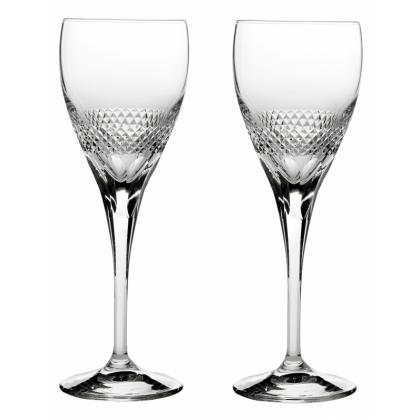 Picture Royal Scot Crystal Large Wine Glasses Diamonds 2 p.