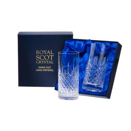 Picture Royal Scot Crystal Longdrink Glasses London 2 p.