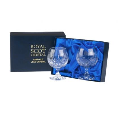 Picture Royal Scot Crystal Brandy Glasses London 2 p.