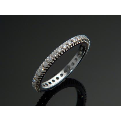 Picture Ring with diamonds - Pellini