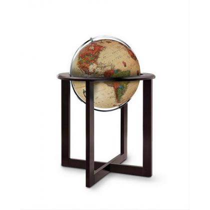 Picture Nova Rico Cross Antique 50 cm Illuminated Floor Standing Globe