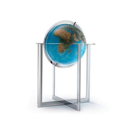 Picture Nova Rico Cross Steel 50 cm Illuminated Floor Standing Globe