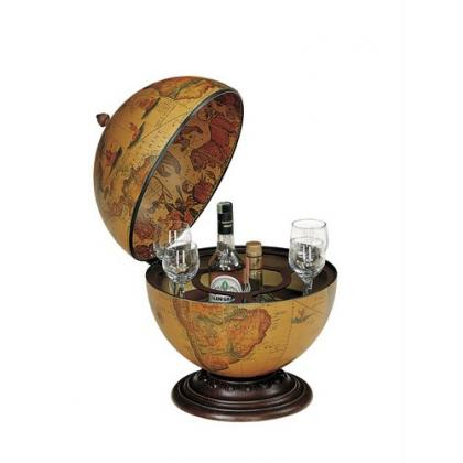 Picture Zoffoli Interno 40 cm Classic desk globe with drinks cabinet