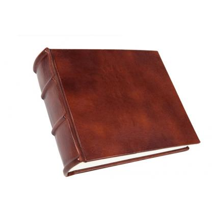 Picture  Hand crafted photo album leather-paper 060-antico