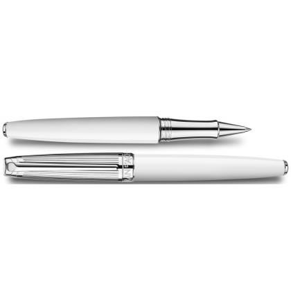 Picture Léman Roller Pen - Bicolor White silver plated/rhodium coated