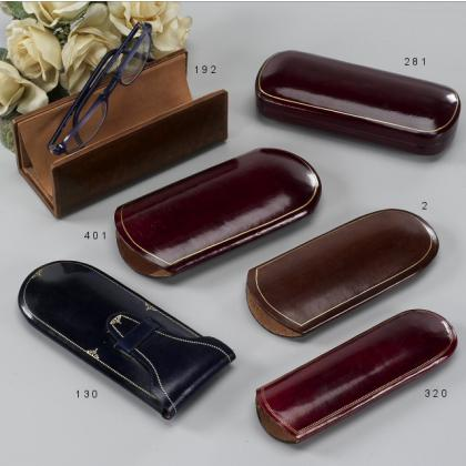 Picture Luxurious, leather glasses case