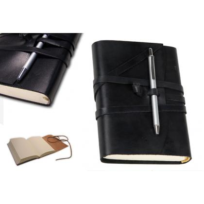 Picture Elegant black notebook – leather