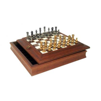Picture Prestigious wooden chess set 39B+280AW