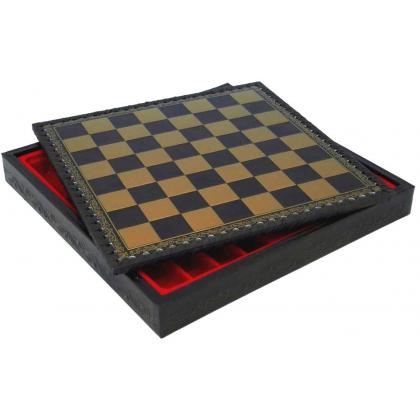 Picture Black and gold, elegant chessboard (35cm) 219GN