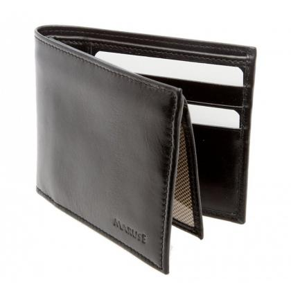 Picture Leather wallet for men – black