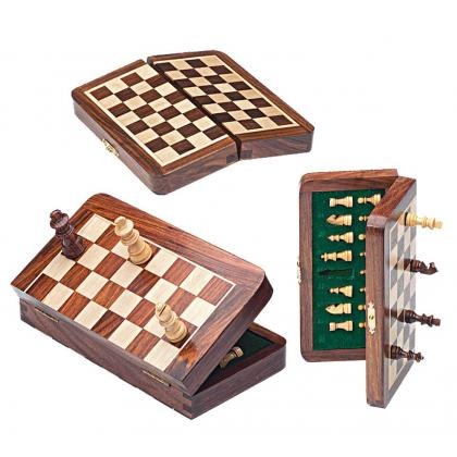 Picture Folded magnetic chess set G-1031