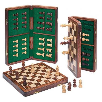 Picture Big chess set - wooden magnetic pieces G-1043D