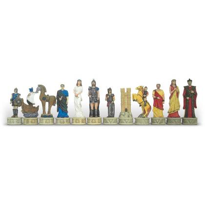 Picture Painted chess set Battle of Troy