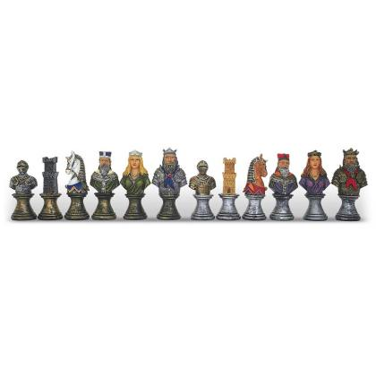 Picture Luxurious chess set Medieval epoch