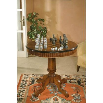 Picture Exclusive wooden chess table with a drawer – complete with Crezioni pieces