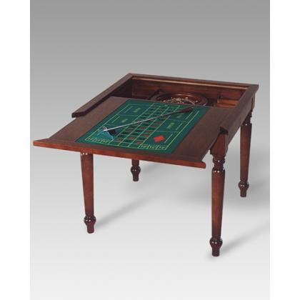 Picture Wooden table for playing chess –roulette – cards Crazioni Morini