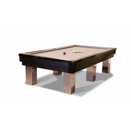 Picture Billiard table made of oakwood and stainless steel