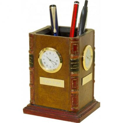 Picture Clock with 4 dials + pen stand!