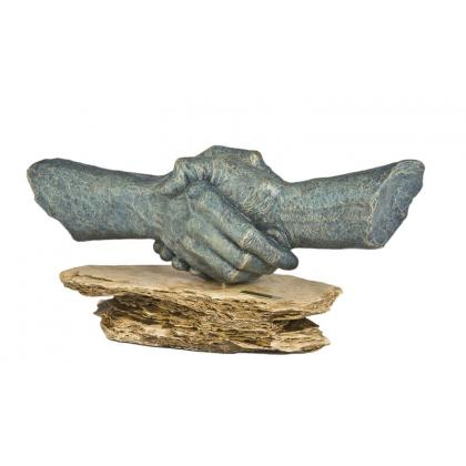 Picture Handshake - a sculpture for a gift for the boss!