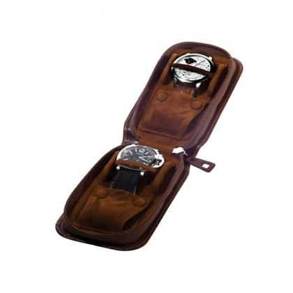Picture Handy leather case for two watches - Absolute Breton