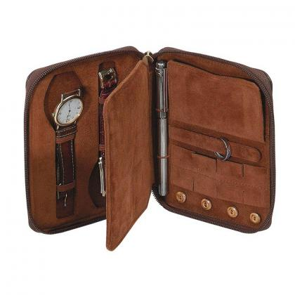 Picture An unusual watch box - natural leather - Absolute Breton