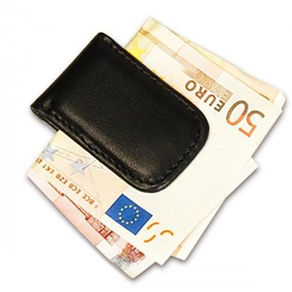 Picture Leather banknote clip - great for a gift for a man - Absolute Breton