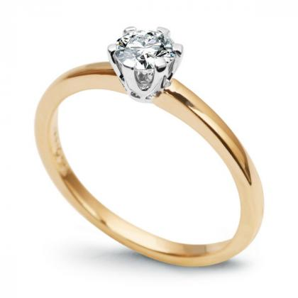 Picture Gold ring with a diamond