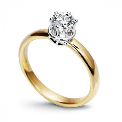 Picture Exclusive engagement ring - gold