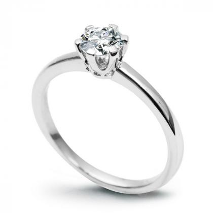Picture Engagement ring of white gold with a brilliant
