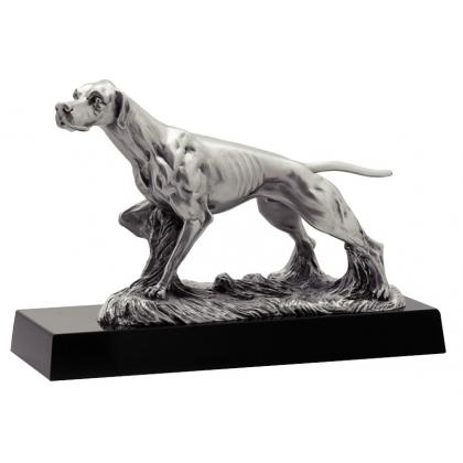 Picture Figurine for the hunter with a hunting dog - Astra Argenti