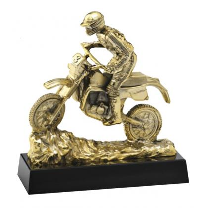 Picture Statuette with motocross - Astra Argenti
