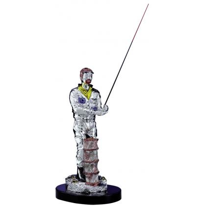 Picture Exclusive statuette with an angler - Astra Argenti