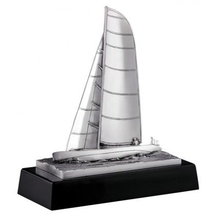 Picture Beautiful figurine with a sailboat - Astra Argenti
