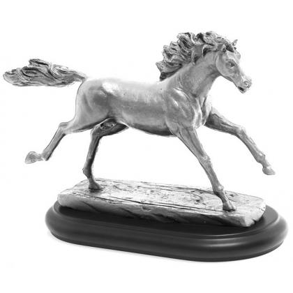Picture Original, Italian figurine with a horse - Astra Argenti