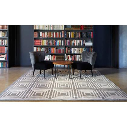 Picture White and grey carpet with a geometric pattern - Forme