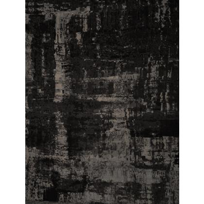 Picture Black carpet made of wool, silk and linen