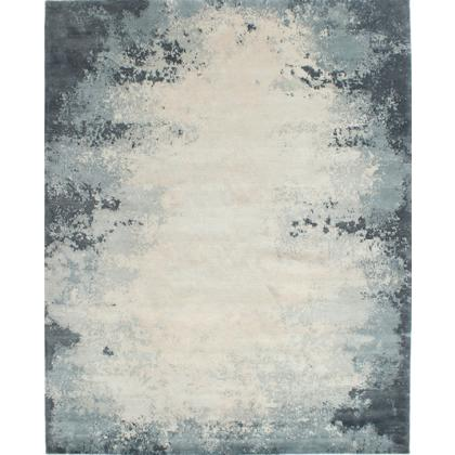 Picture Woollen carpet with a blend of linen and silk with pervading colours