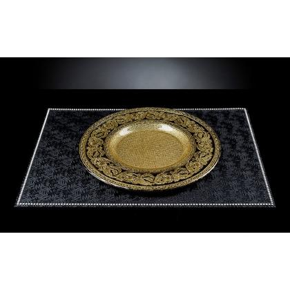 Picture Phenomenal large VG plate of glass with gold and black