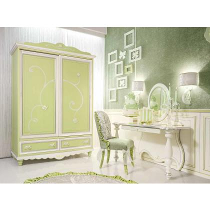 Picture Luxurious wardrobe and desk for girls