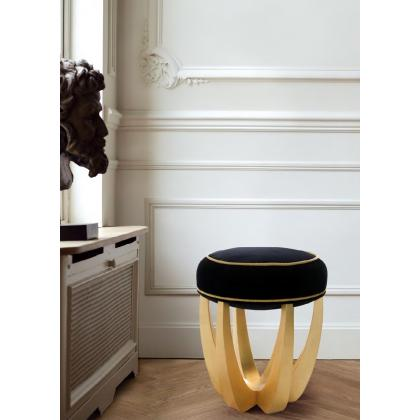Picture Stool made of cotton velvet for luxurious Ottiu interiors