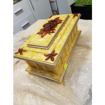 Picture Amber casket - handmade!!!