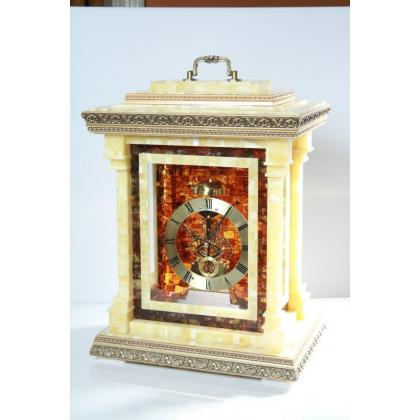 Picture Glazed amber clock in 3 places - Handmade!!